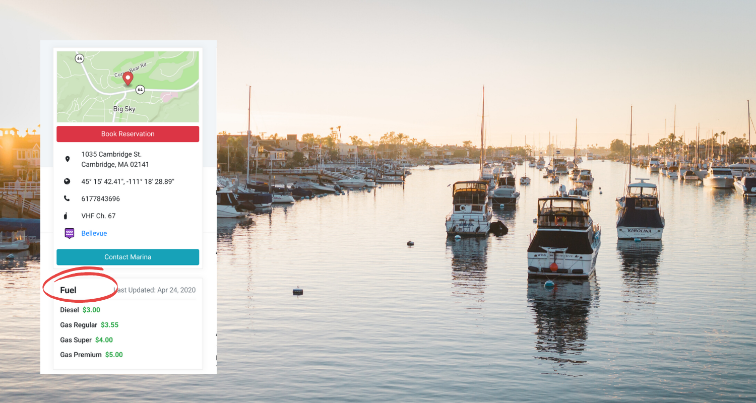 Using Marinas.com to Search for Fuel Docks and Fuel Prices